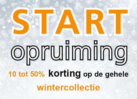 Start opruiming winter 2017